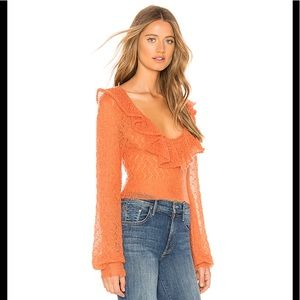 Free People Macaroon Sweater in Burnt Orange M